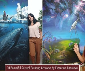 art, paintings, and colorful paintings image