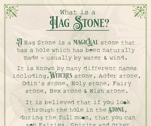 info, wicca, and hag stone image