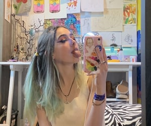 alternative, blue hair, and girls image