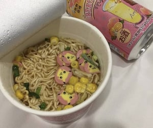 food, noodles, and pikachu image