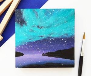 aurora, aurora borealis, and drawing image