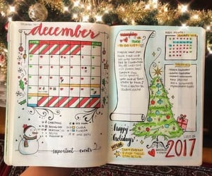 art, journal, and christmas image