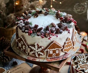 christmas, cake, and Cookies image