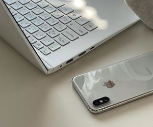 aesthetic, apple, and white image