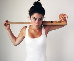 baseball bat, brunette, and girl image