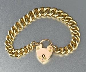 bracelet, heart, and padlock image