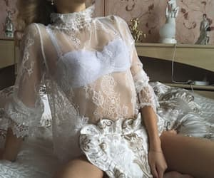 lace, see through, and pure image