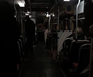 bus, night, and dark image