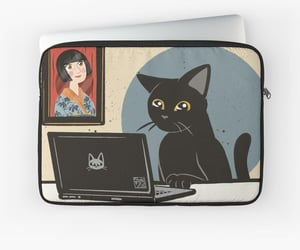 cat, mac, and sleeve image