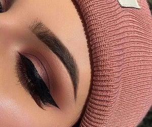 eyeliner, girls, and make up image