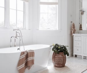 architecture, bathroom, and bathtub image