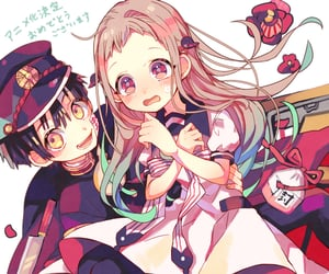 anime couple, hanako-kun, and yugi amane image