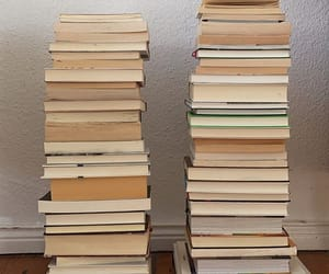 books, drink, and food image
