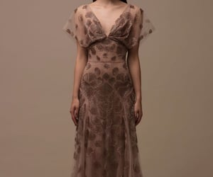 brown, gown, and model image