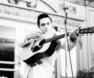 black and white, Johnny Cash, and singer image