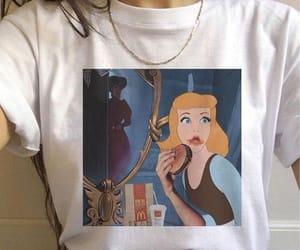 cinderella, hamburger, and t-shirt image