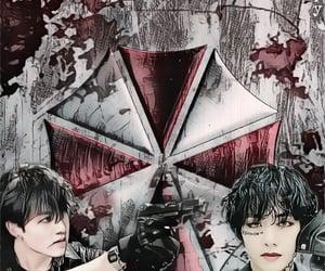 bts, umbrella corporation, and taekook image