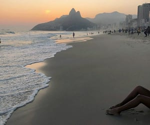 beach, brazil, and ocean image