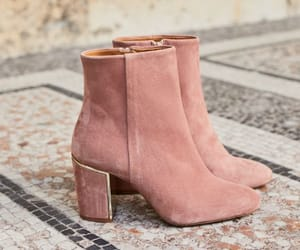 pink ankle boots image
