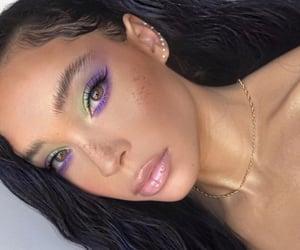 green, purple, and stunning image