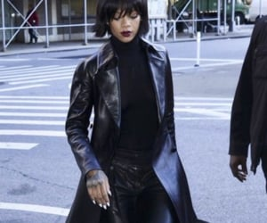 leather, rihanna, and sexy image