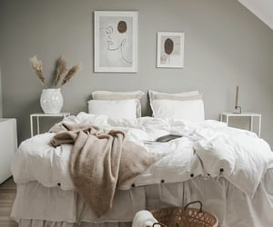 apartment, style, and bed image