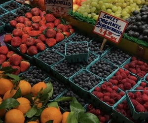 blueberries, food, and healthy image