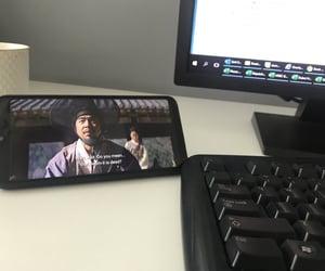 computer, drama, and watch image