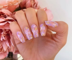 girly, gold, and marble image