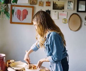 girl, cook, and cooking image