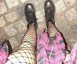 bad girl, fishnet, and black image