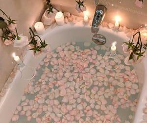 bath, candle, and petals image