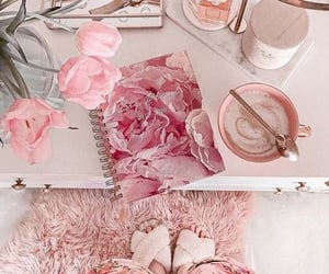 coffee, marble, and pink image