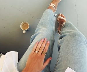 accessories, coffee, and denim image