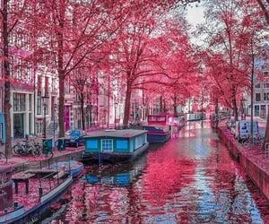 amsterdam, boat, and fashion image