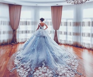 blue, makeup, and bride image
