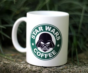 cafe, darth, and movie image