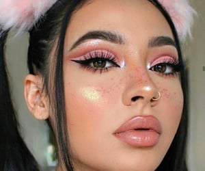 beauty, girl, and pink image