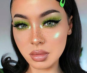 green and makeup image