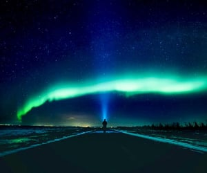 blue, green, and night image