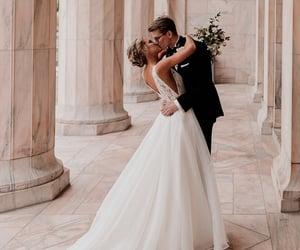 love, kiss, and wedding image