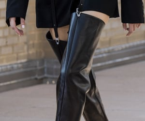 black, fashion week, and boots image