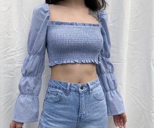 beautiful, blouse, and blue image