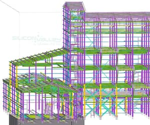 shop drawing services, structural 3d model, and structural 2d drawing image