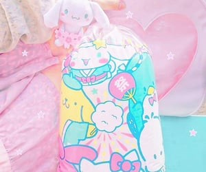 candy floss, cinnamoroll, and hello kitty image