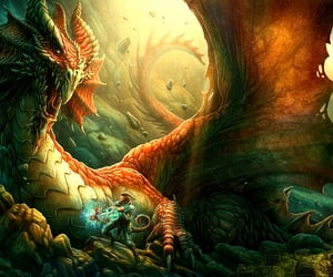 art, dragons, and fantasy art image