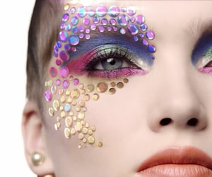 beauty, iridescent, and makeup image