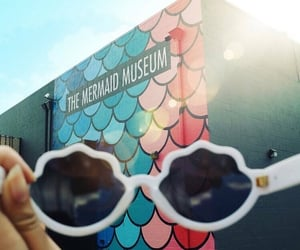 mermaid, museums, and sunglasses image