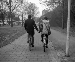 black and white, couple, and love image
