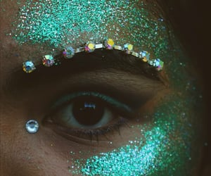 glitter, green, and mermaid image